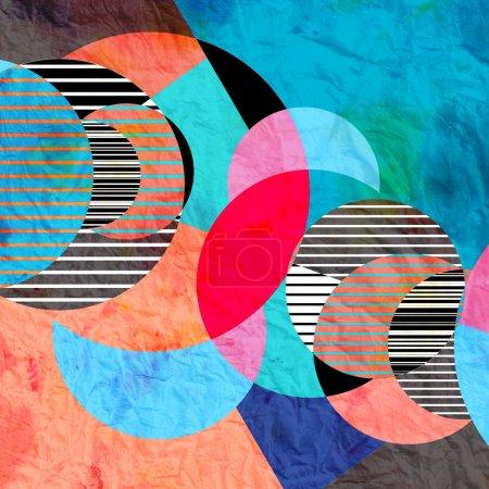 Photo pour Brillant motif abstrait graphique des éléments fantastiques - image libre de droit