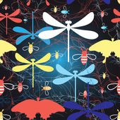 Graphic pattern different insects