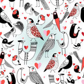 """Постер, картина, фотообои """"Графическая модель в любви птицы"""""""