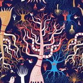 Pattern beautiful magical trees