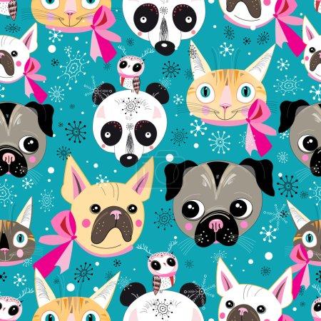Pattern portraits of animals