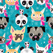 pattern portraits of animals