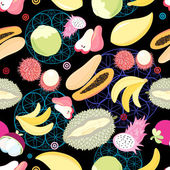 pattern tropical fruits