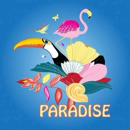 bird of paradise and plants