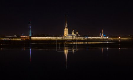 Night view of Peter and Paul Fortress