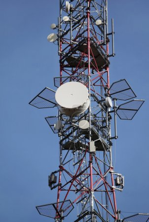 Photo for Mobile phone communication repeater antenna - Royalty Free Image