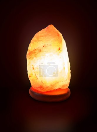 Photo for Healthy salt lamp isolated on background - Royalty Free Image