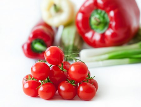 Photo for Cherry tomatoes and fresh vegetables - Royalty Free Image