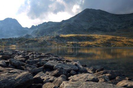 Photo for Beautiful sunset landscape at Bucura Lake - Royalty Free Image