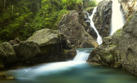 Photo for Amazing view of waterfall in Retezat Mountains - Royalty Free Image
