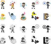 Lidé ikony pro zprávu