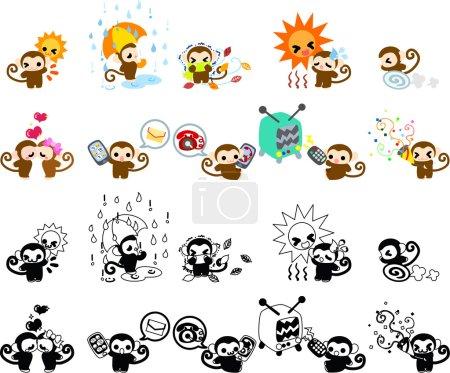 Icons of monkeys part 4