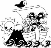 The Seven Deities of Good Luck and the Treasure Ship