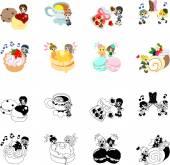 Ikony sladkostí a málo lidí