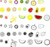 The icons of fruits