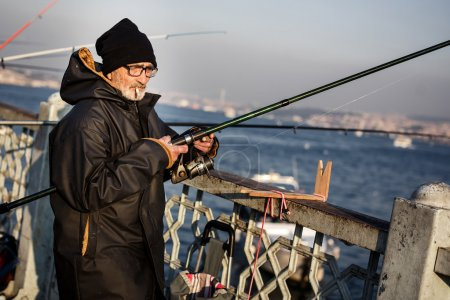 Fisherman on Galata Bridge
