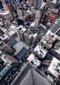 "Постер, картина, фотообои ""Здания и трафик из Нью-Йорка"""