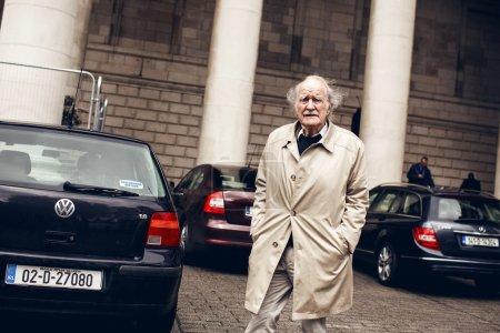 Senior man on street in Dublin