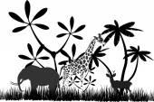 Jungles silhouette