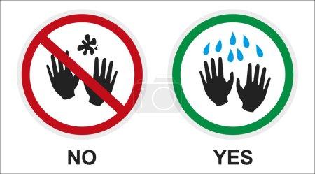 firmar manos limpias y sucias