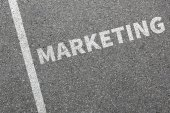 Marketing a reklama kancelář obchodní koncepce