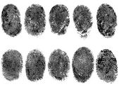 10 Black and White Vector Fingerprints - Very accurately scanned and traced ( Vector is transparent so it can be overlaid on other images vectors etc