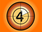 Orange and Red Circle Countdown at No 4 - (Vector Format