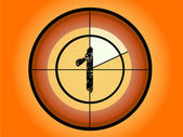 Orange and Red Circle Countdown at No 1 - (Vector Format