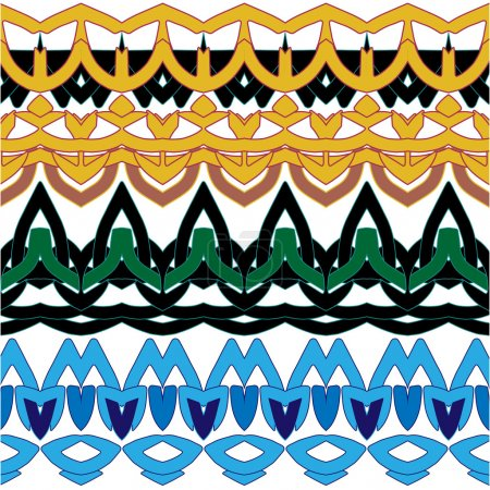 Border  geometric symmetrical patterns