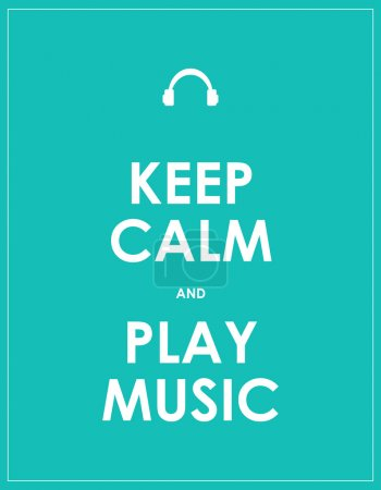 Keep calm and play music,vector background,eps10