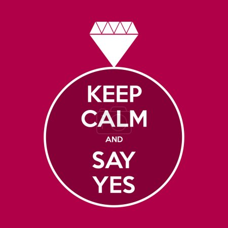 keep calm and say yes