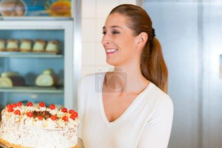 Female baker or pastry chef