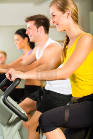People  on the fitness machine