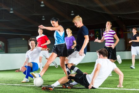 Team playing football or soccer