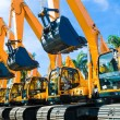 Vehicle fleet with construction machinery of build...