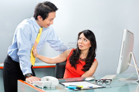Sexual harassment by boss in Asian office