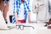 Werbung Agentur Team an kreativen Treffen
