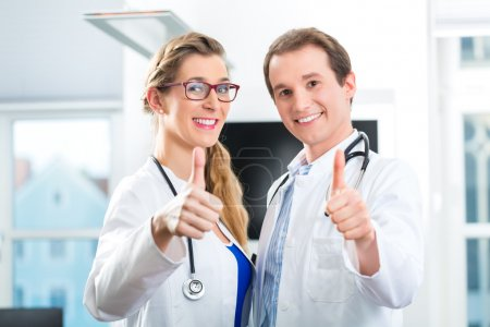 Doctors shows Ok sign
