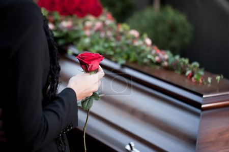 Religion, death and dolor  - funeral and cemetery,...
