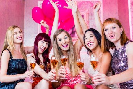 Girls partying in night club
