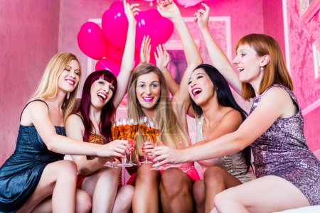 Girls partying in night club