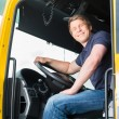 Logistics - proud driver or forwarder in drivers c...