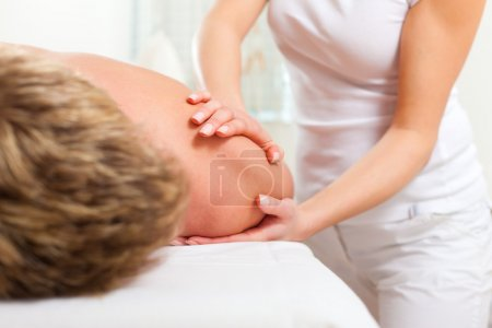 Patient at the physiotherapy - massage