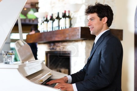 Pianist in a fine restaurant