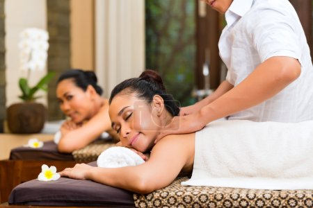 Indonesian women at wellness spa massage