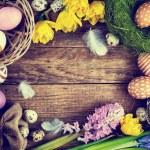 Easter Vintage background, Toned image