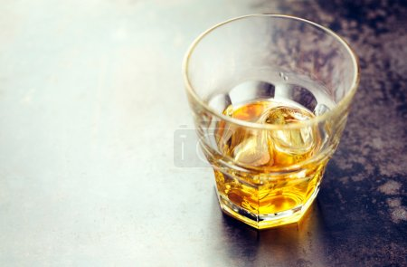 Photo for Strong alcohol with Ice. Lots of copy space - Royalty Free Image
