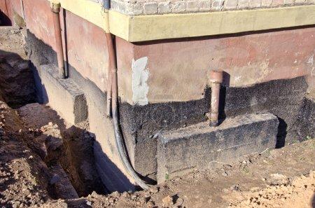 repair old urban house foundation