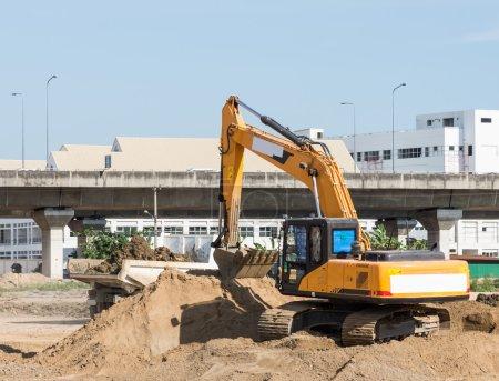 Modern excavator vehicle