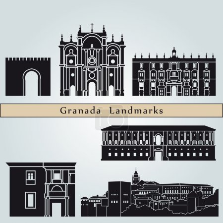 Granada landmarks and monuments